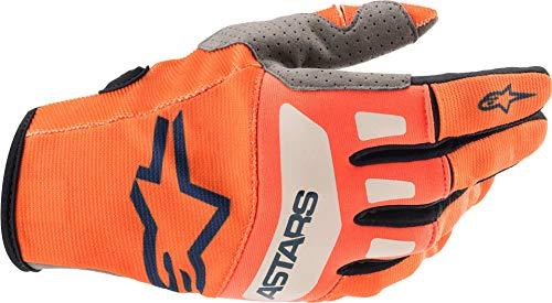 Alpinestars Techstar Unisex-Erwachsene Handschuhe orange/dunkelblau/weiß XL (Mehrfarbig, Einheitsgröße