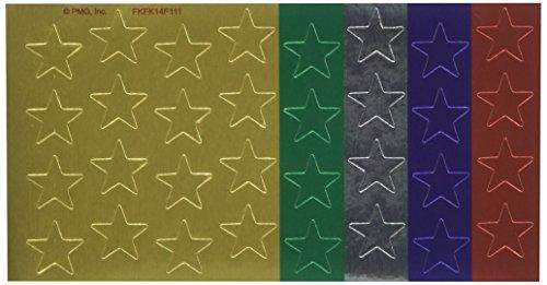 Eureka Back to School Classroom Supplies, Presto-Stick Foil Stars, 1/2 Assorted, 250 pc