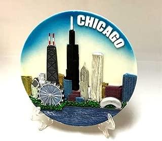 Chicago Souvenir Plate - Color - 6