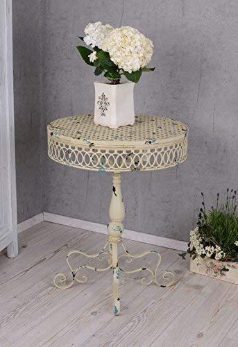 PALAZZO INT Gartentisch Shabby Chic Tisch Antik Metalltisch Garten