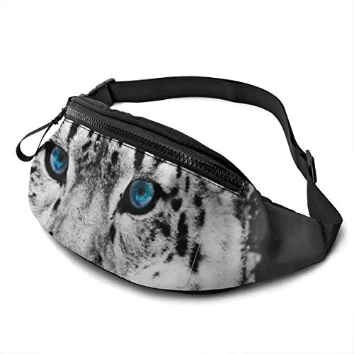 AOOEDM Free White Leopard Fashion Casual Waist Bag Fanny Pack Travel Bum Bags Running Pocket for Men Women