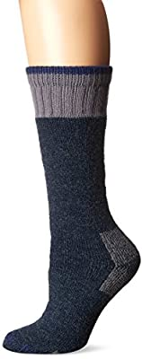 Carhartt womens Extremes Cold Weather Boot Sock, 1 Pair casual socks, Denim, Shoe Size 5-12 US