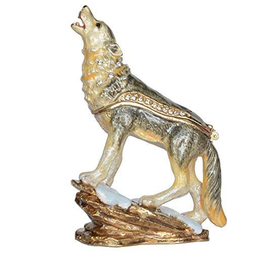 AIJOAN-BJ Tierfiguren & Tierstatuen Statuen Dekoration Bejeweled Schmuckschatulle Emaille Schmuckschatulle Aufbewahrungsschatulle Schmuckschatulle