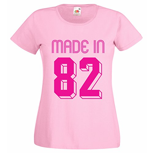 Maßgeschneiderte Damen anpassbar Geburt Jahr T-Shirt 2 Gr. X-Large, hellrosa