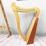 arpa in legno a 19 corde a 15 corde, arpa irlandese portatile, mini arpa, strumento a corde in mogano, con leva di accordatura e borsa, adatta per gli amanti della musica,15strings