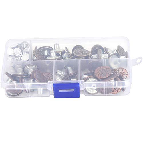 IJzeren broekknopen, broekknopen, duurzaam Sterk 2-vaks Praktisch versterkt voor kleding Broeken, spijkerbroeken