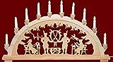 yanka-style XL Schwibbogen Lichterbogen Leuchter Bergleute ca. 72 cm breit traditionelles Motiv...