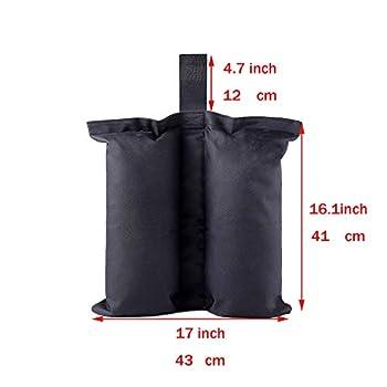 CACTIYE Sacs de poids pour abris instantanés de qualité supérieure - Sac de sable pour tente - Sac de poids pour pieds de tente - Sac lesté