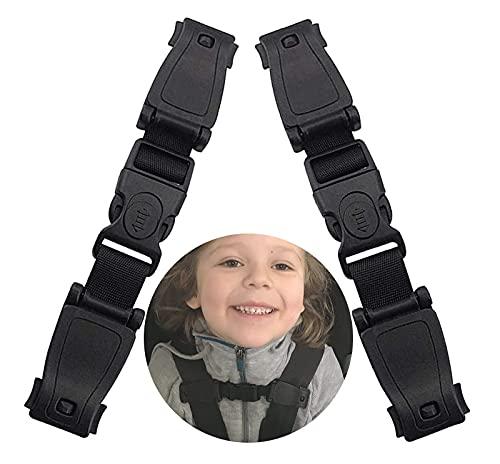 Guanyj 2 Piezas Clip Cinturon Silla Bebe Cinturón De Seguridad Para Silla De Auto Cinturón Seguridad Sujetar Niño Negro Cinturón Seguridad Niños Adecuado para Asientos para Niños Asientos Automóviles