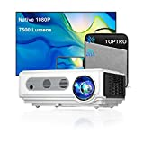 Best Android Projectors - TOPTRO WiFi Bluetooth Projector, 2021 Upgraded Portable Video Review