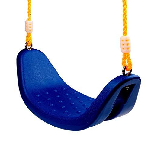 HYISHION Asiento de Columpio con Asiento de plástico Columpio de Cuerda for niños y Adultos (Color: Verde) (Color: Rojo) SKYJIE (Color : Blue)