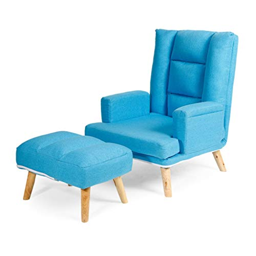MENGQ Lazy Couch klappsessel Wohnzimmer Balkon Lounge Sessel 8 Farben (Color : Light Blue)