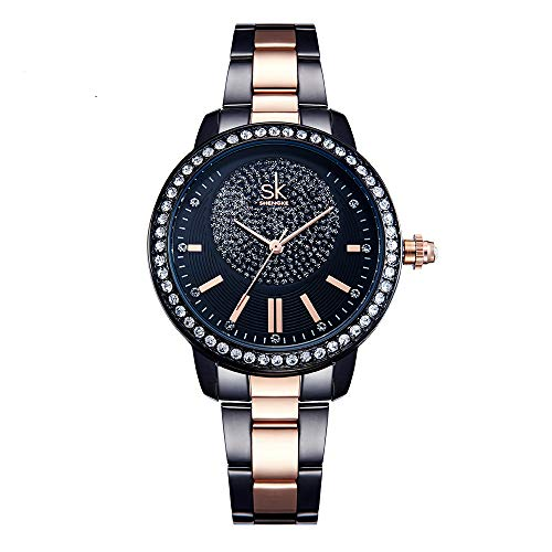 SHENGKE Relojes de Mujer Reloj de Pulsera de Cristal para Mujer Reloj de niña Relogio Feminino