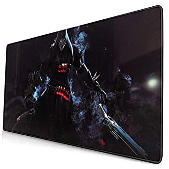 Over-Watch Reaper Extended Gaming Mouse Pad 3D Printed Keyboard Mouse Mat with Stitched Edges Non-Slip Rubber Base Desk Cover Computer Keyboard Pc Laptop