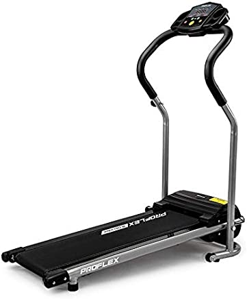 ProFlex X-Strider 6-Speed Ultra Compact Electric Treadmill with 4 Training Programs, Black