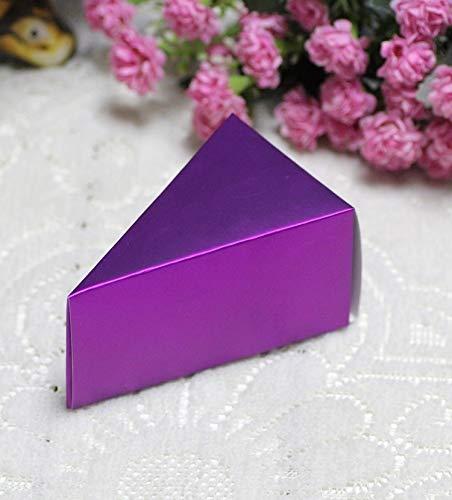 KEHUITONG 10pcs Mariage Bonbonnière gâteau boîte-Cadeau Boîtes Party Case Favor Case Gift Box (Couleur : Deep Purple)