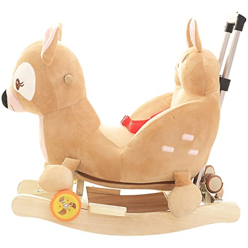 Enfant Rocker Toddler Rocker Infant Rocker cheval à bascule en bois massif chaise berçante pour 1-4 ans bébé jouet bébé voiture -LI JING SHOP