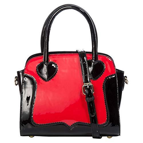 Banned Retro Handtasche - Miss Frankie Rot