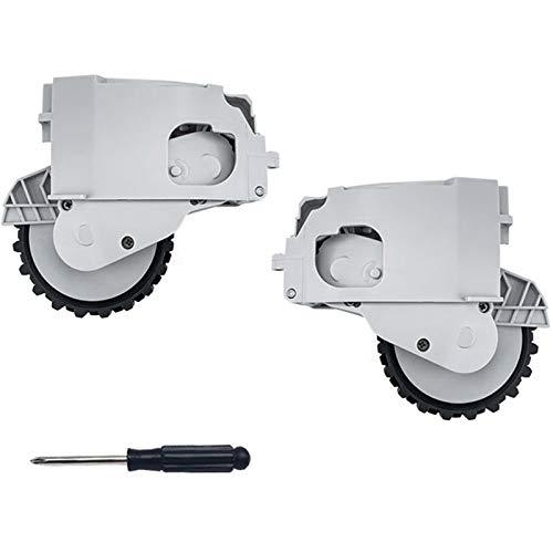 SDFIOSDOI Piezas de aspiradora Robot aspiradora Accesorios de Rueda Izquierda y Derecha Ajuste para Xiaomi 1C Repuestos de aspiradora (Color : Gray)