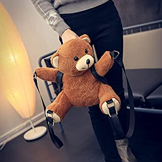 Women/Girls Fashion Leather Backpack Plush Teddy Bear Backpack/School Bags Fmous Brand Leisure