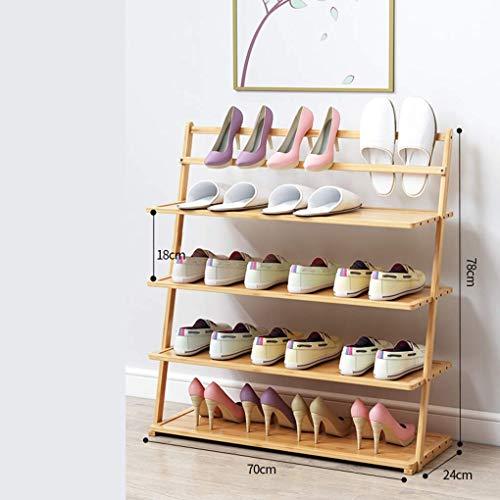 LZLSNE Schuhregal Bambus-Dreieck-Design Schuh-Rack, Mehrgeschossige Dekorieren Schuhschrank,...