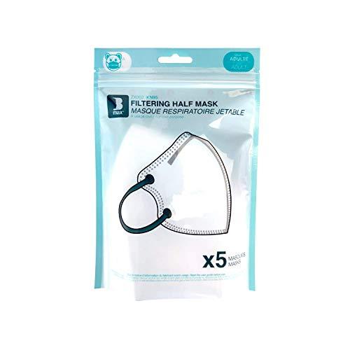 Staroon Sicherheitsmaske FFFP2 Gesichtsmaske Staub.- und Bakterienschutz mit Filterventil (Packung mit 5 Stück)
