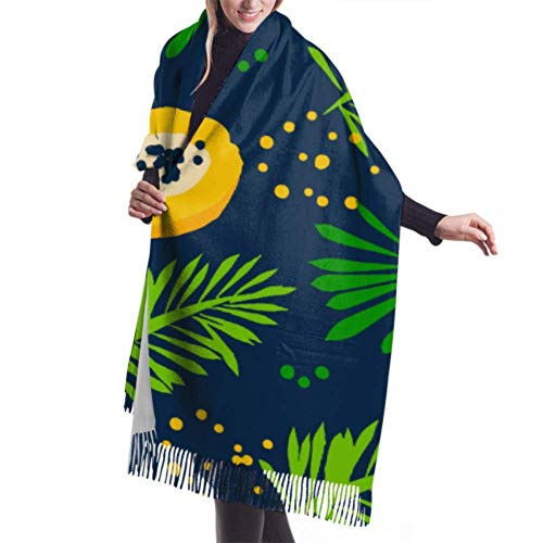27'x77 Bufanda de cachemira para mujer Color Extico Papaya Halfs Bufanda para mujer Bufanda ligera de verano Elegante manta grande y clida