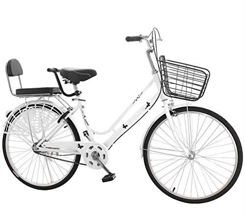 24 Pulgadas Bicicleta Bici Ciudad Plegables Adulto Hombre Mujer, Bicicleta de Montaña Btt MTB Ligero Folding Mountain City Bike Doble Suspension Bicicleta Urbana Portátil, H049ZJ