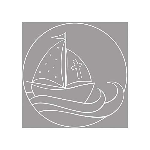 Rayher 28313000, Holz Stempel Mein Schiff, 7 x 7 cm
