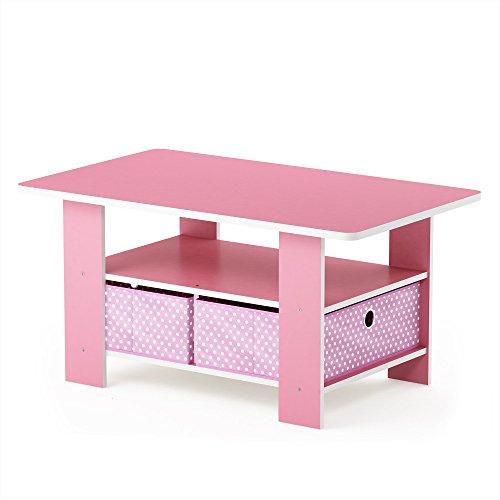 mesa de centro de color rosa perfecta