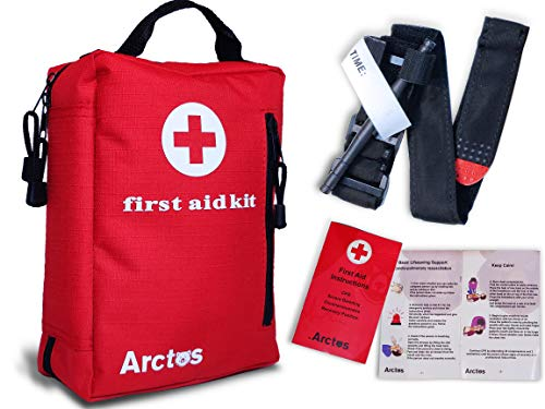 Arctos First Aid Kit - Compact ifak with a Professional Military Tourniquet, Perfect for Camping, Hiking, Traveling, Outdoors, Sports, Survival, Car, Home, Businesses and Whatever You Want…