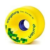 Orangatang Durian 75 mm 86a Freeride Longboard Skateboard Wheels w/Loaded Jehu V2 Bearings (Yellow, Set of 4)
