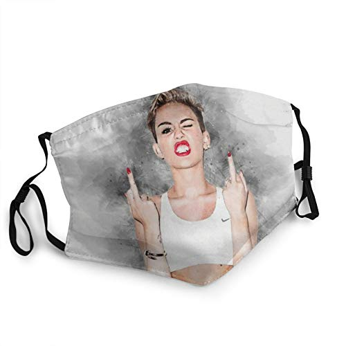 Unisex Miley Cyrus Mask Adult Face Mouth Anti-Dust Balaclava for Outdoor Running Cycling Black