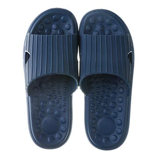 JFHZC Zapatillas de Piscina Antideslizan,Sandalias y Pantuflas Unisex de EVA para el hogar, Pantuflas de baño de Masaje de Pareja de Suela Gruesa Antideslizantes para Interiores-Dark_Blue_39-41EU