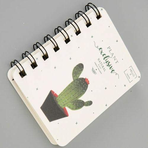 SENRISE Notizbuch mit Tier-Spiralbindung, Mini-Cartoon-Tagebuch, Notizblock, A7, niedliches Papier, 160 Seiten (1 Stück)