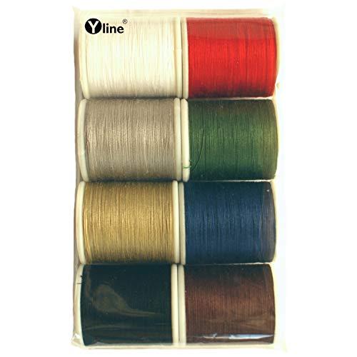 8 bobinas de hilo superior BW de 100 m, multicolor, ocho colores, hilo de coser Ne 50/3, hilo para máquina de coser, (0,15 €/10 m), 3170