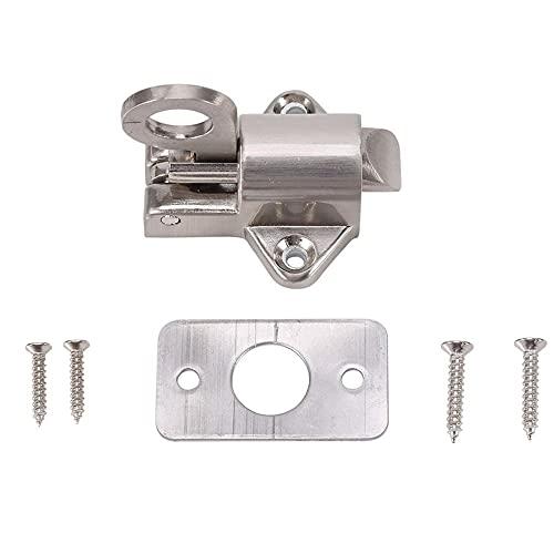 Anillo de tracción Seguridad Cerradura de puerta de seguridad Pestillo automático Plata 1 pieza Aleación de zinc de alta calidad-predeterminado
