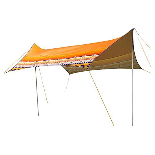 Toldo de Refugio Impermeable Camping Tarpa Tarpa 4-6 Persona Senderismo al aire libre y  Refugio de supervivencia Grandes Protección UV Protección Tienda de tiendas de tiendas de tiendas de campaña (