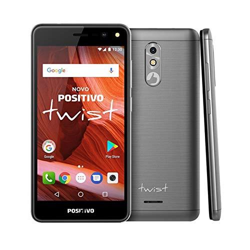 Celular Twist S-511 Dual, Positivo, 3900672, 16GB, 5, Cinza