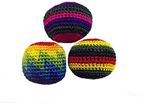 One World is Enough Set von 3 colouful Jonglierbälle ! Ideal für Anfänger und Profis (Farben Sortiert)