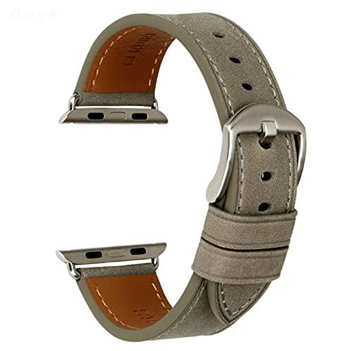 Correa de reloj de cuero para Apple Watch Band 42 mm 38 mm / 44 mm 40 mm Serie 4/3/2/1 Todos los modelos Correa de reloj iWatch