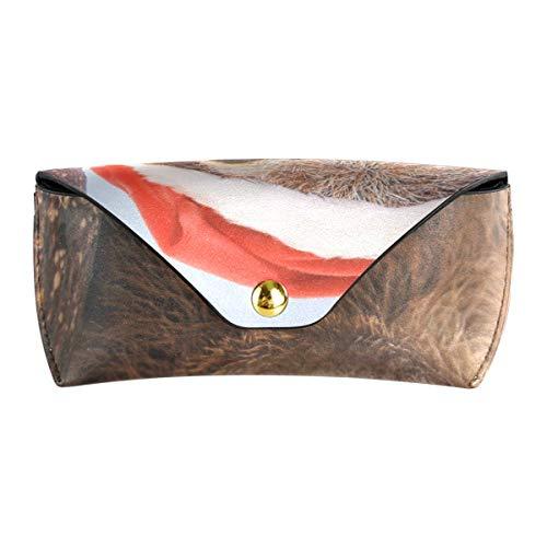 XiangHeFu Brillenzak-zonnebril-doos-schattige drogheid-kerstmuts multiuse beweegbare veiligheidsbrillen-zak-buis-PU leer