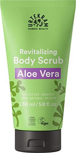 "Urtekram Aloe Vera Body Scrub Bio, \""Gel-zu-Milch Effekt\"", 150 ml"