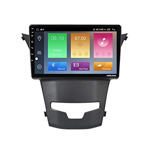 ADMLZQQ 9 Pulgadas Android 10.0 Radio Coche Estéreo Unidad Principal para SsangYong Actyon, Navegación GPS/Bluetooth/FM/RDS/DSP/Cámara Trasera / 4G + WiFi,7862 (8core 6+128g)