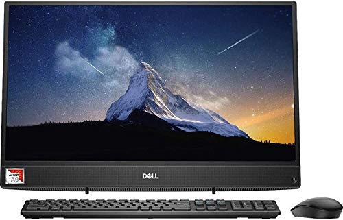 """Dell Inspiron All-in-One AIO Desktop Computer 21.5"""" FHD Display AMD A9-9425, 8GB RAM, 256GB SSD, HDMI, Multi-Card Reader, Wireless-AC, Bluetooth, KKE Mousepad, Wired Keyboard&Mouse, Win10 (Renewed)"""