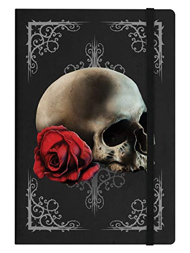 A5 Notizbuch Hardcover Cranial Rose 14 x 21 cm schwarz