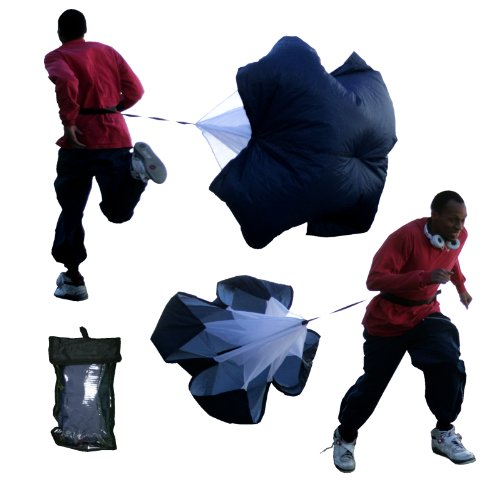"BlueDot Trading Speed Training Resistance Parachute Power Running Chute - Medium (48"" Size)"