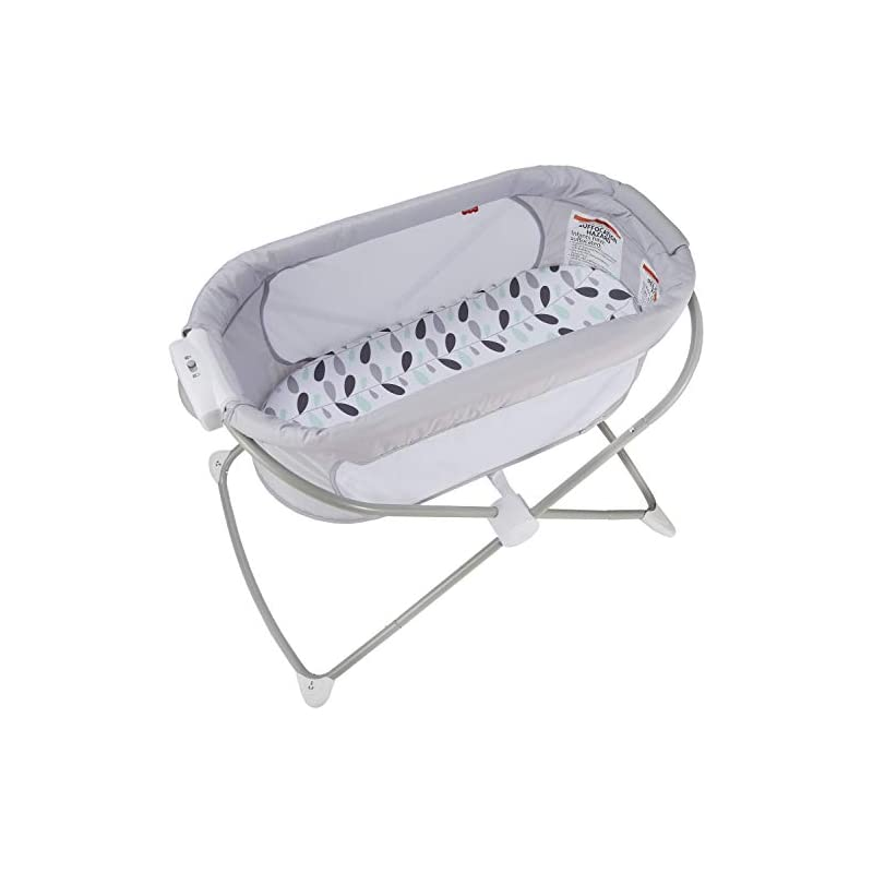crib bedding and baby bedding fisher-price, soothing view bassinet – climbing leaves folding portable baby cradle for newborns and infants, multi
