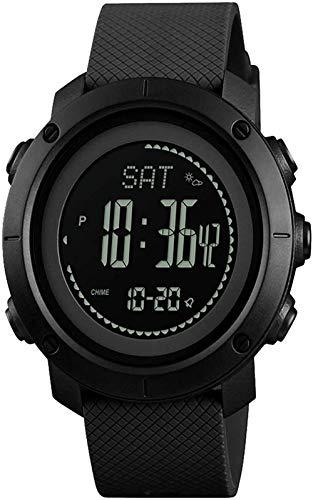 Relojes para hombre, brújula, deporte, impermeable, reloj ABC, podómetro de supervivencia para niños, cronómetro, altímetro al aire libre, barómetro, termómetro, relojes