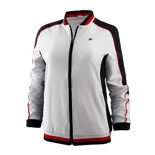 FILA Damen, Jacky Trainingsjacke Weiß, Blau, M Jacken, M